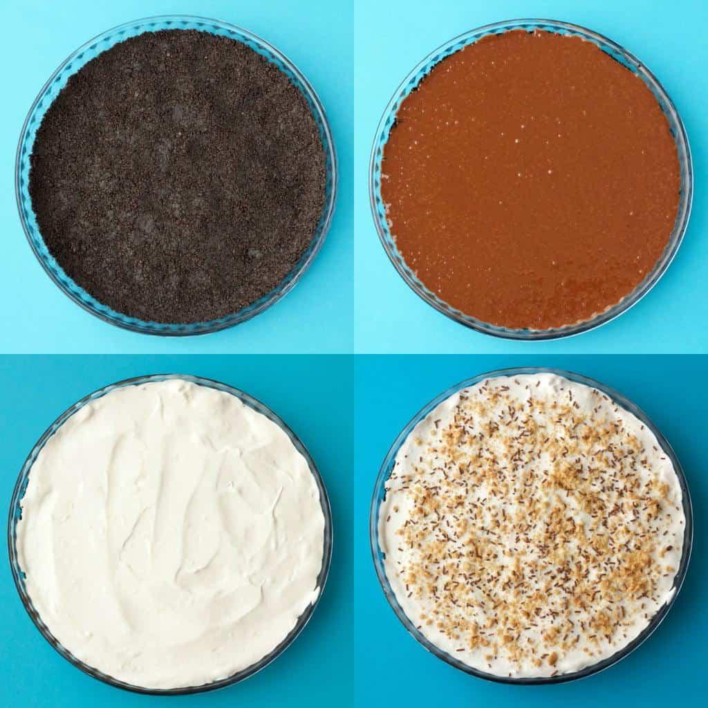 Making a Vegan Chocolate Peanut Butter Oreo Pie #vegan #lovingitvegan #dairyfree #dessert