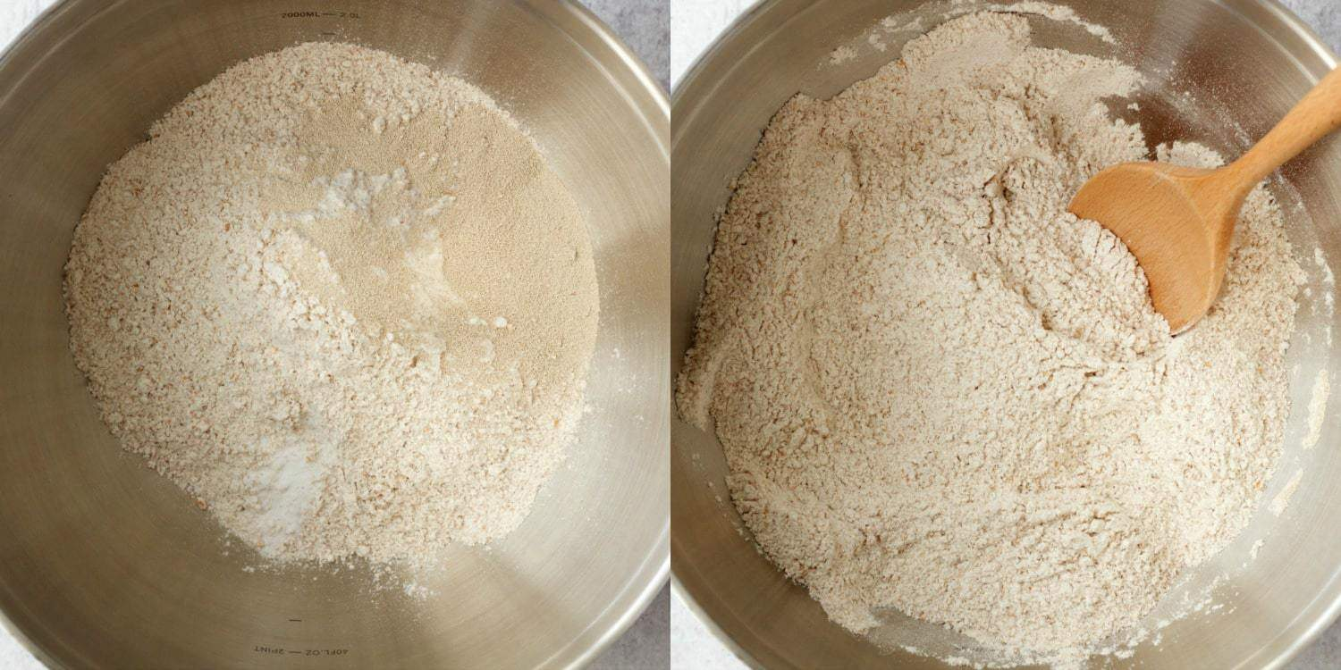 Making Wholewheat Bread #vegan #wholewheat #lovingitvegan #bread