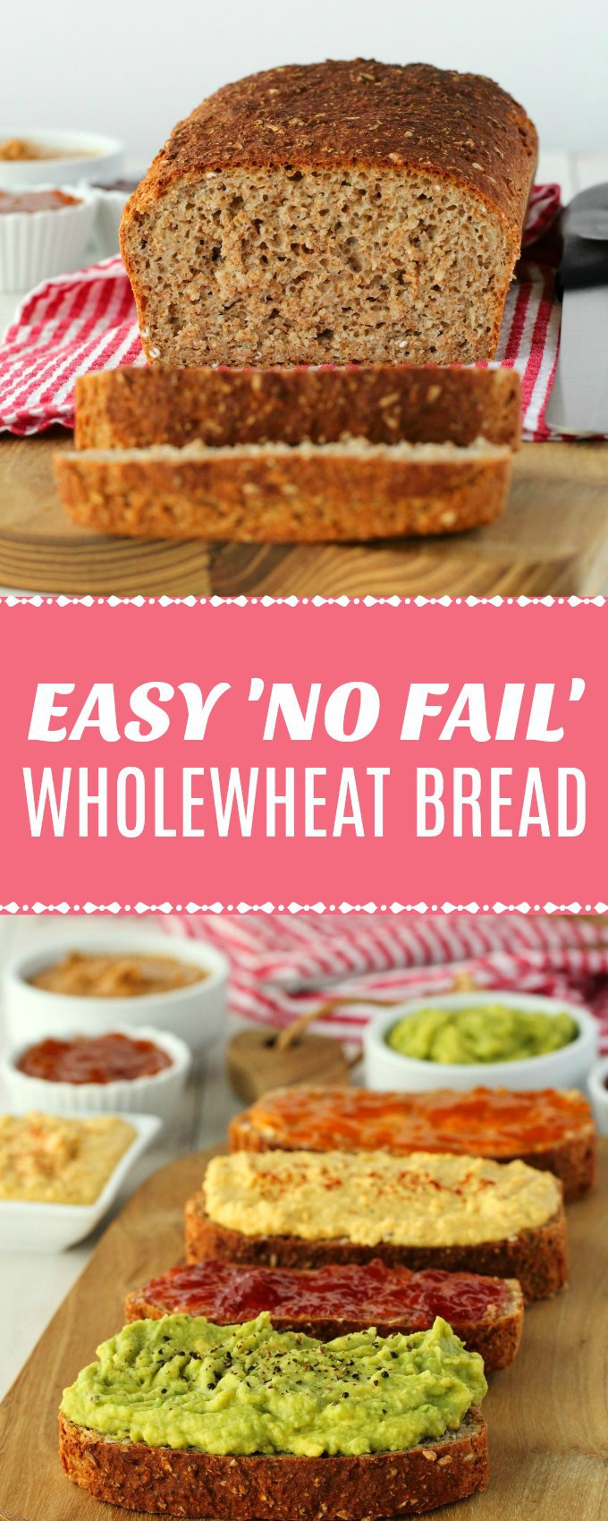 Simple 5-ingredient wholewheat bread. You just don't get easier than this no-fail recipe! Hearty, wholesome, nourishing, vegan and delicious! | lovingitvegan.com