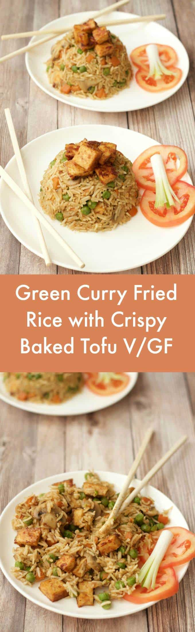 You know how you tend to have a few dinner favorites that you just recycle over and over again? This awesome vegan green curry fried rice is one of ours! | lovingitvegan.com