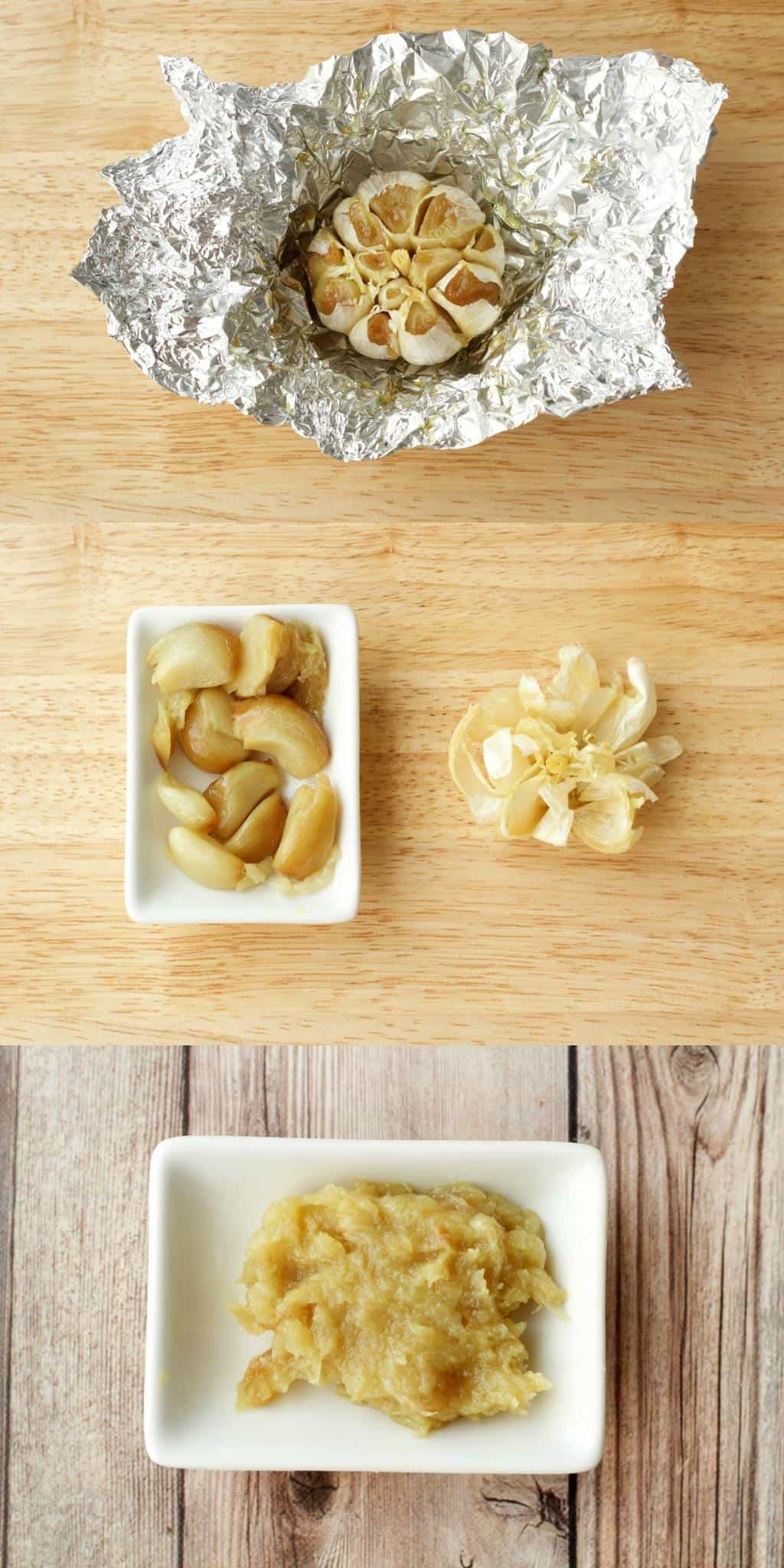 Roasted Garlic Vegan Mashed Potatoes - Making roasted Garlic #lovingitvegan