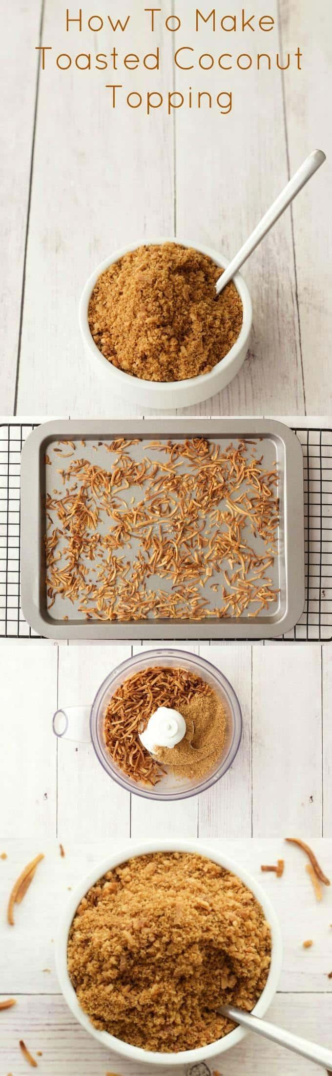 How To Make Toasted Coconut #vegan #lovingitvegan #howto #dessert #topping
