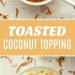 Toasted coconut topping