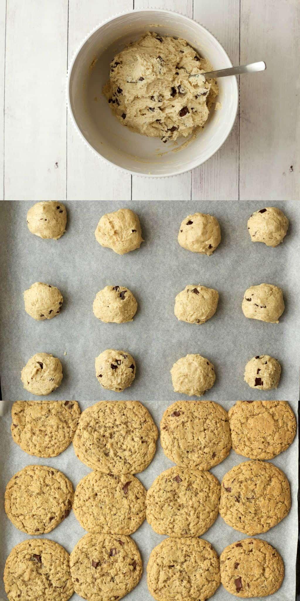 Making Vegan Chocolate Chip Cookies #vegan #lovingitvegan #cookies #chocolatechip