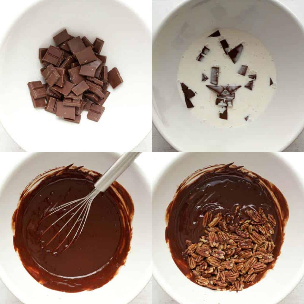 Making a Vegan Chocolate Ganache Pecan Pie #vegan #lovingitvegan