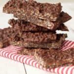 2-Ingredient Vegan Chocolate Crunch Bars