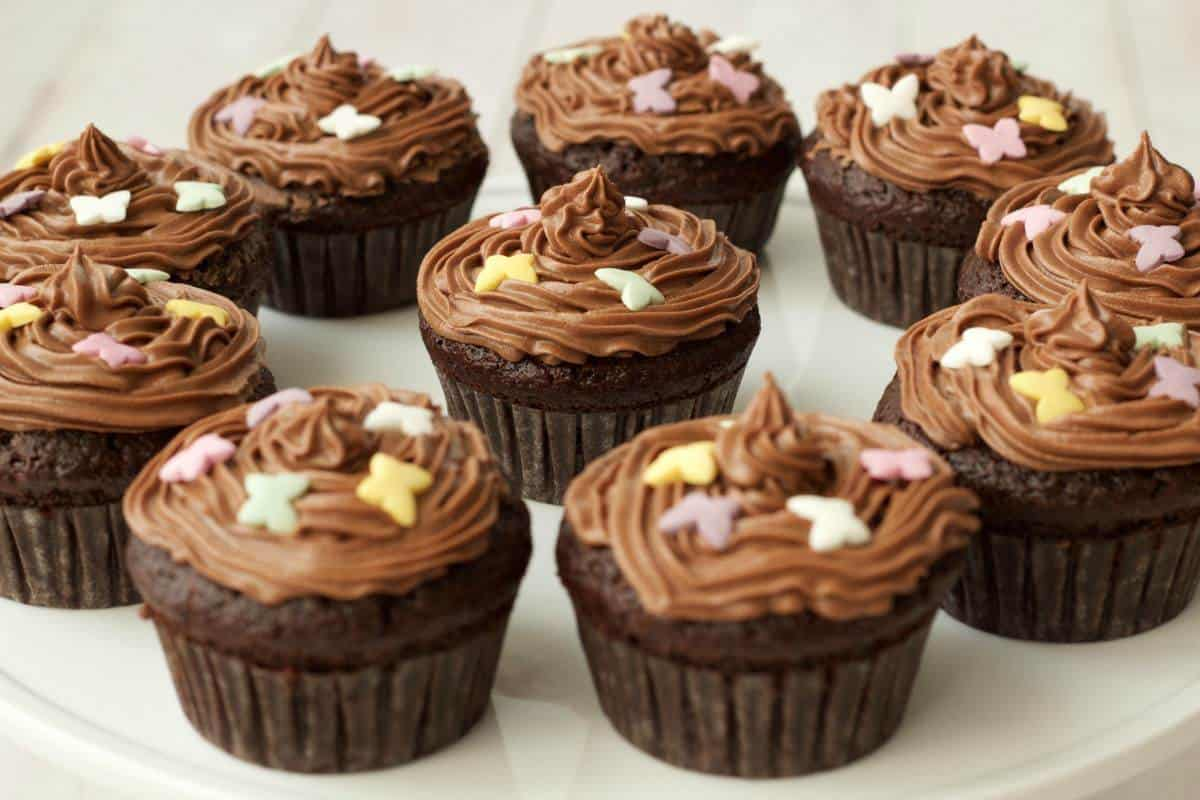Gluten Free Chocolate Cupcakes With Chocolate Buttercream Frosting Vegan Lovingitvegan Glutenfree