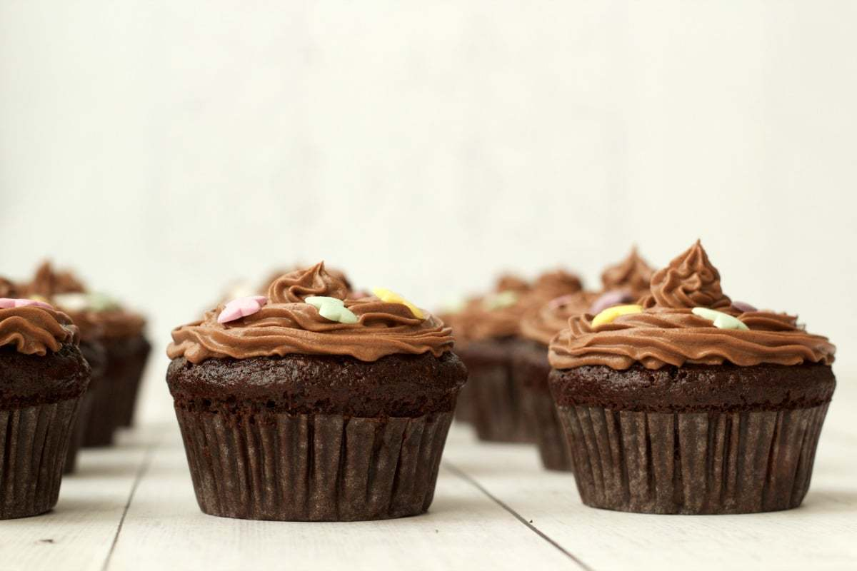 Gluten-Free Chocolate Cupcakes with Chocolate Buttercream Frosting # ...