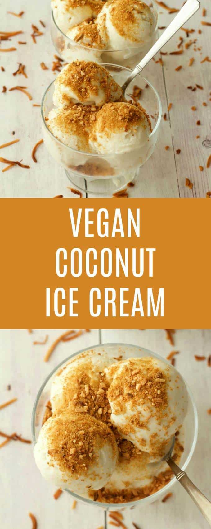 Smooth and ultra-creamy coconut ice cream with toasted coconut topping. Dairy-free, gluten-free, vegan and unbelievably good! Vegan | Vegan Ice Cream | Vegan Desserts | lovingitvegan.com