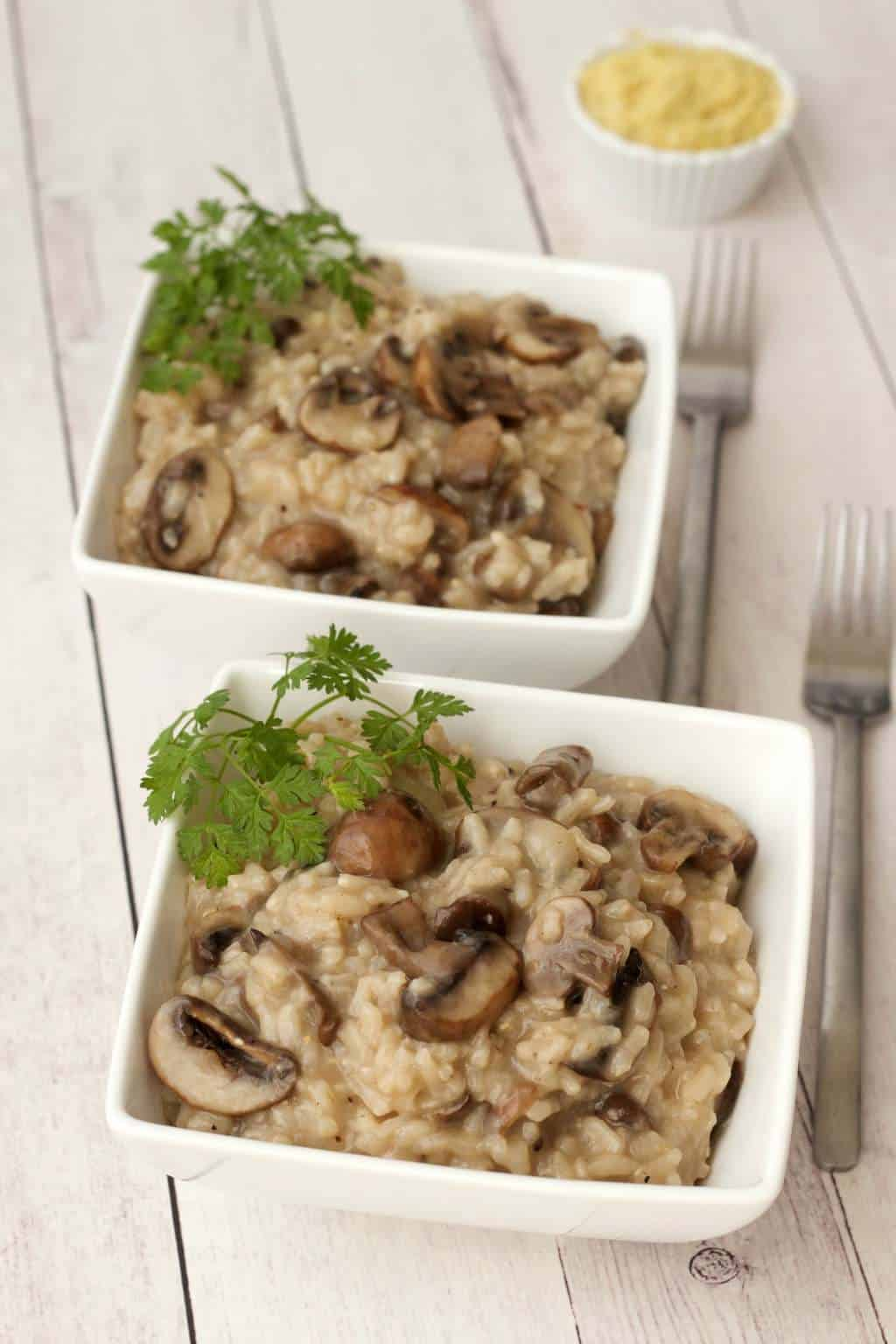 Creamy Vegan Mushroom Risotto