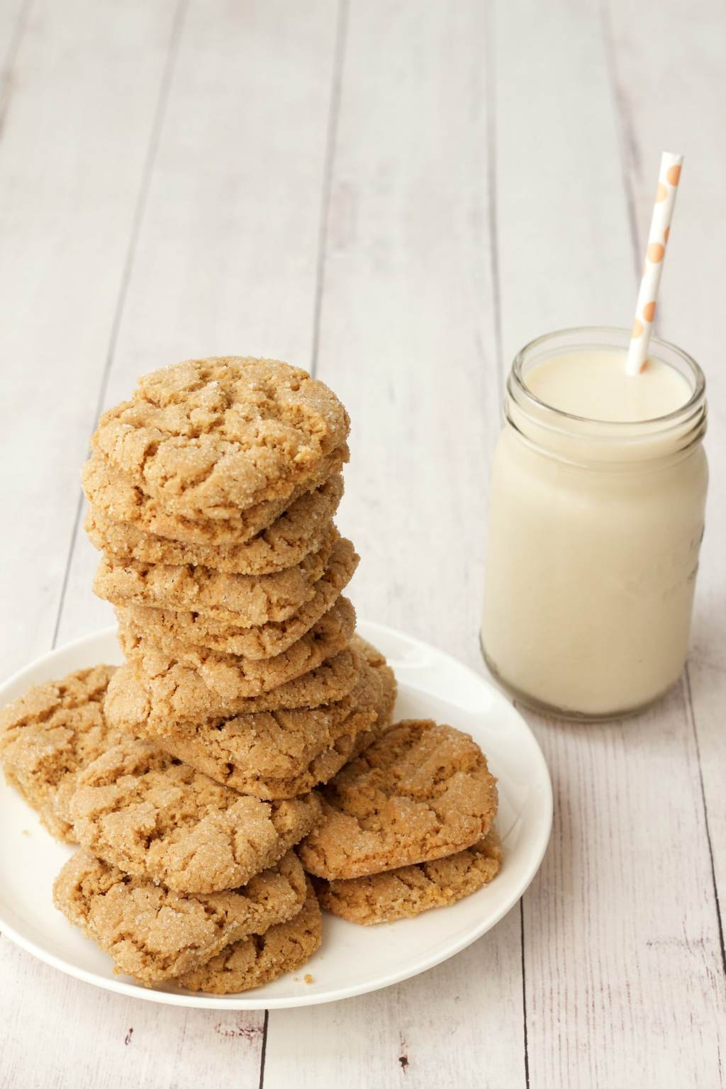 Crunchy Vegan Peanut Butter Cookies