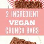 2-Ingredient Vegan Crunch Bars