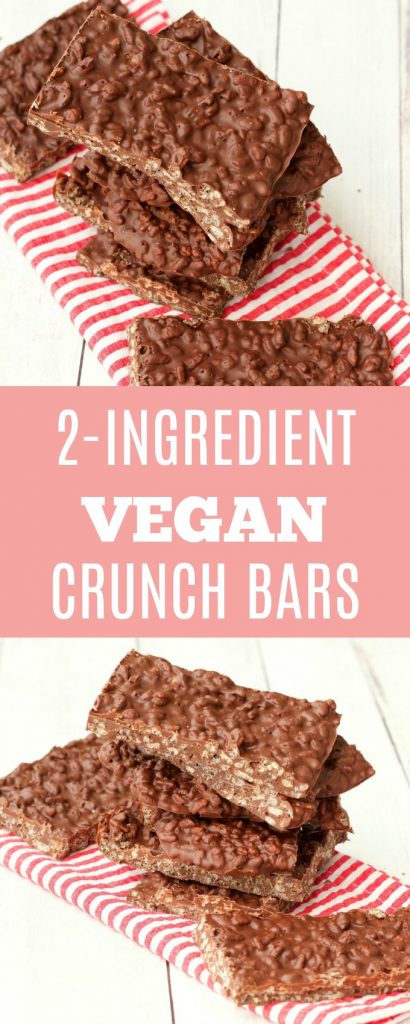 2-Ingredient Vegan Crunch Bars