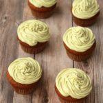 Gluten-Free Vegan Vanilla Cupcakes with Matcha Green Tea Frosting