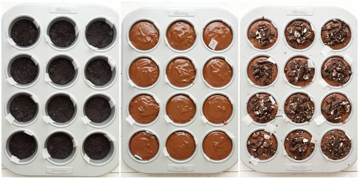 Making Mini Vegan Chocolate Cheesecakes #vegan #lovingitvegan #dessert #cheesecake