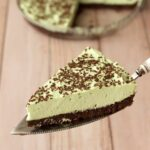 Mint Cream Brownie Pie