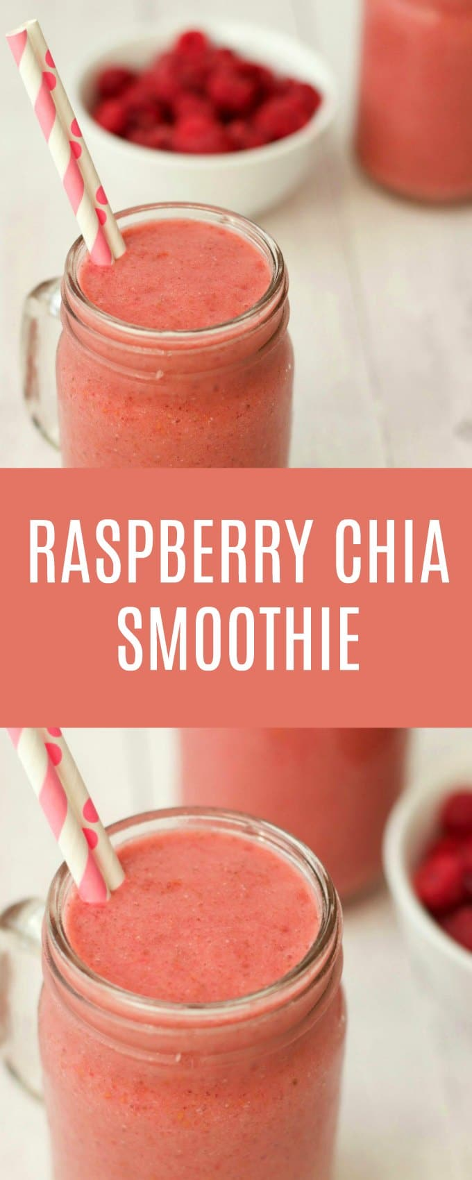 Perfectly sweet, smooth, ice-cold and satisfying Raspberry Chia Smoothie. Ideal for breakfast or as a refreshing post-workout snack. Vegan and gluten-free. | lovingitvegan.com