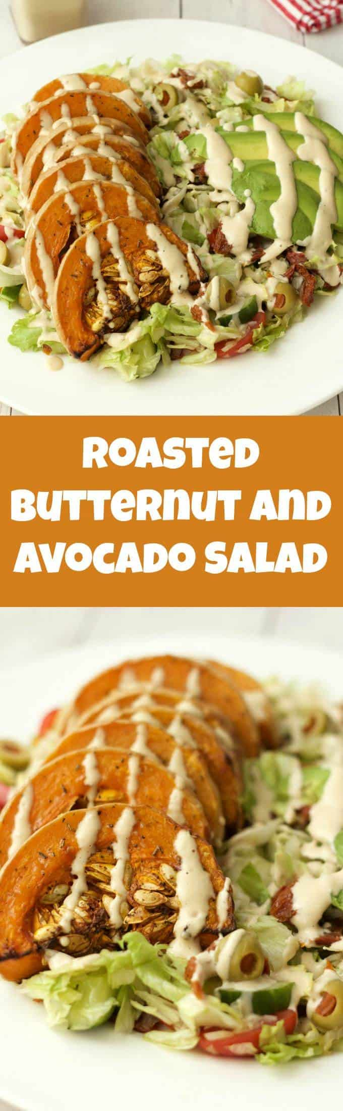 Roasted Butternut and Avocado Salad with Cashew Cream Dressing. This salad makes a satisfying and delicious main meal, and it's vegan and gluten-free! | lovingitvegan.com