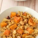 Spicy Peanut Pasta with Roasted Butternut and Crispy Tofu