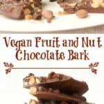 Vegan Fruit and Nut Chocolate Bark