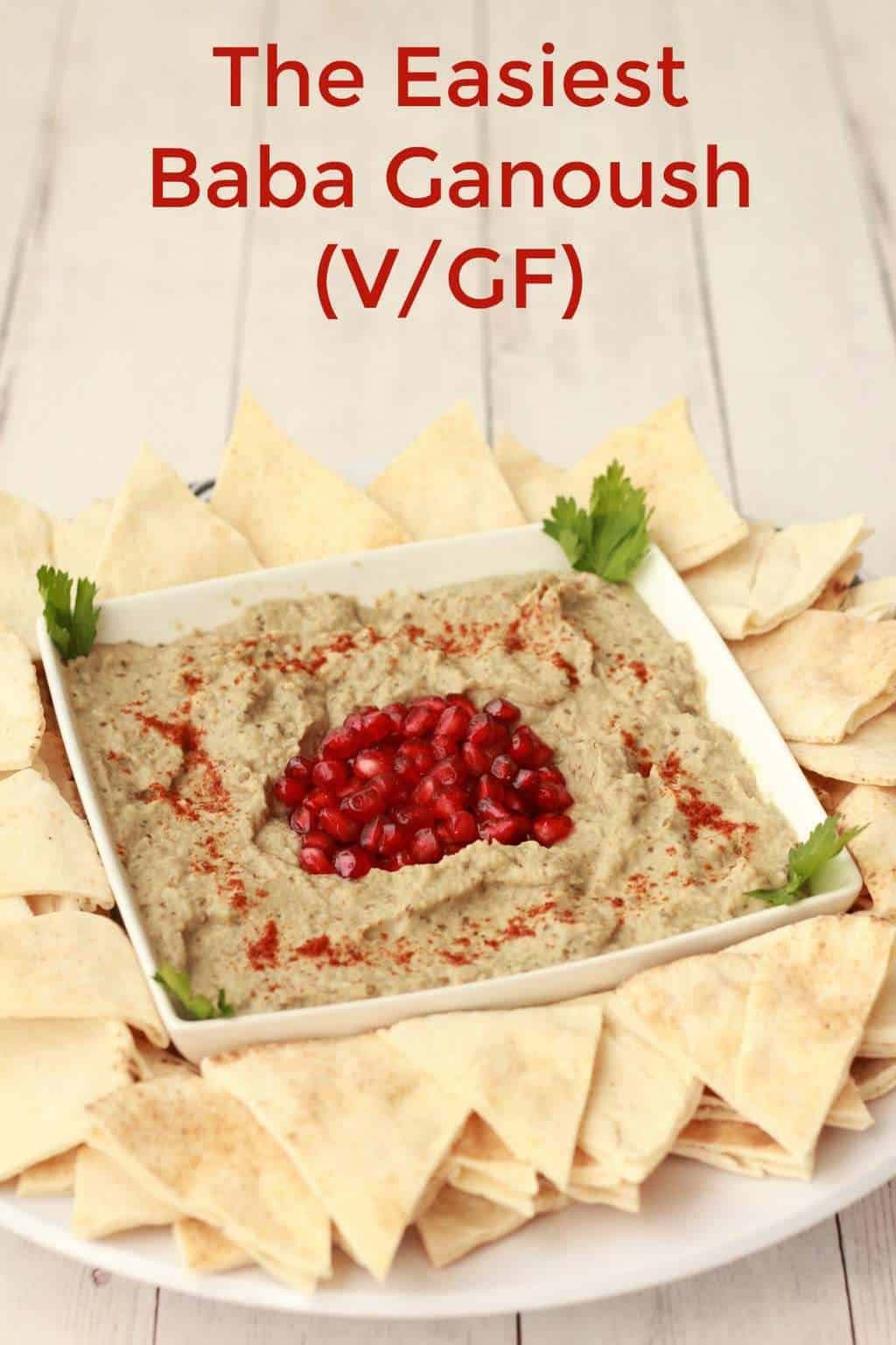 The Easiest Baba Ganoush #vegan #glutenfree #babaganoush #lovingitvegan #middleeastern #moutabel