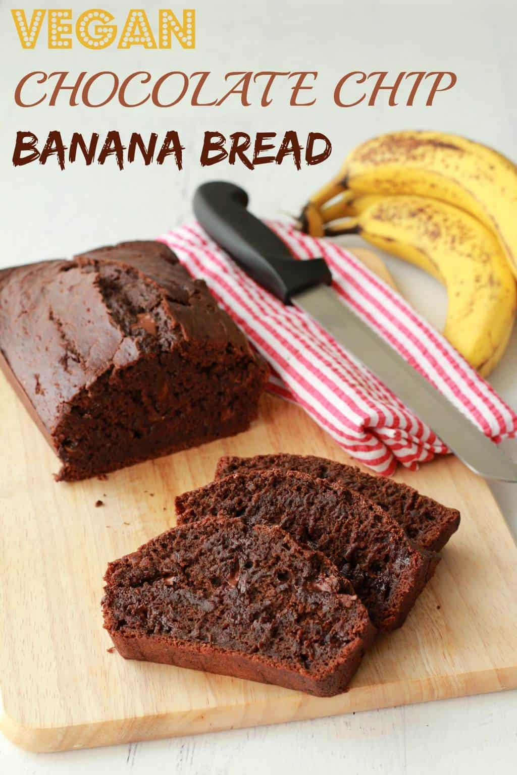 Vegan Chocolate Chip Banana Bread #vegan #lovingitvegan #bananabread #dessert #chocolatechip