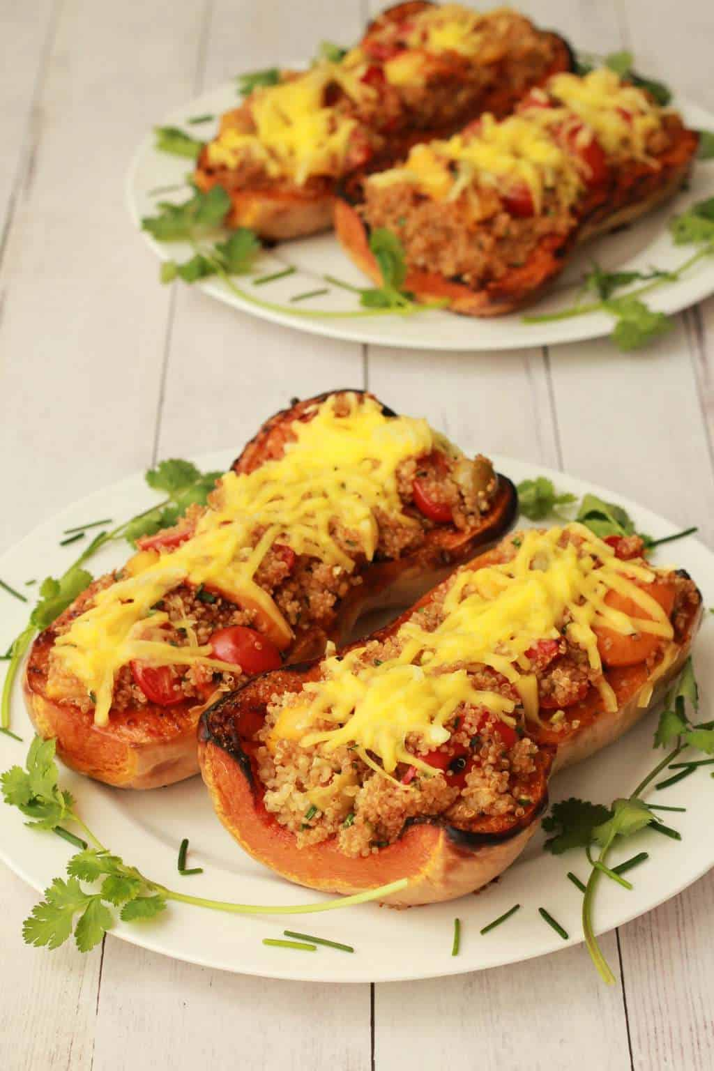 Stuffed Roasted Butternut #vegan #lovingitvegan #entree #roastedbutternut #glutenfree