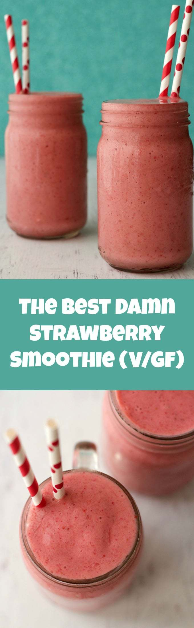 The Best Damn Strawberry Smoothie #vegan #lovingitvegan #smoothie #strawberrysmoothie
