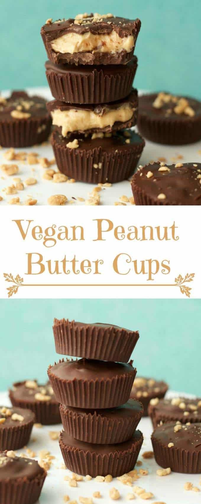 Vegan Peanut Butter Cups #vegan #lovingitvegan #dairyfree #dessert #peanutbuttercups
