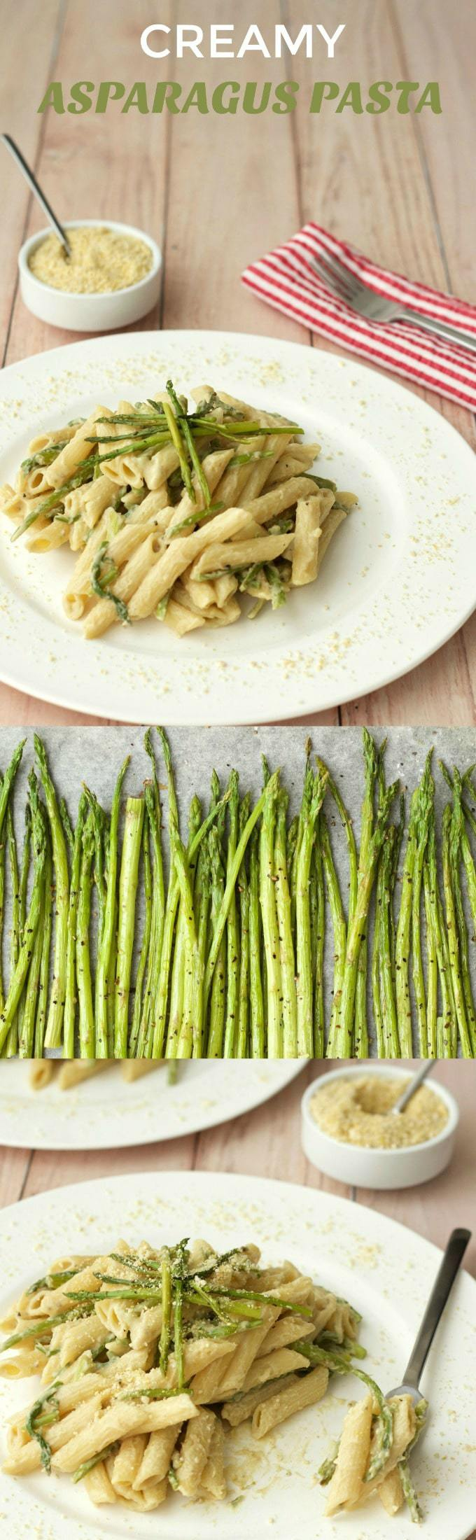 Creamy asparagus pasta, a hearty and deliciously satisfying plant-based entree! Ready in 30-40 minutes, filling, flavorful and vegan. | lovingitvegan