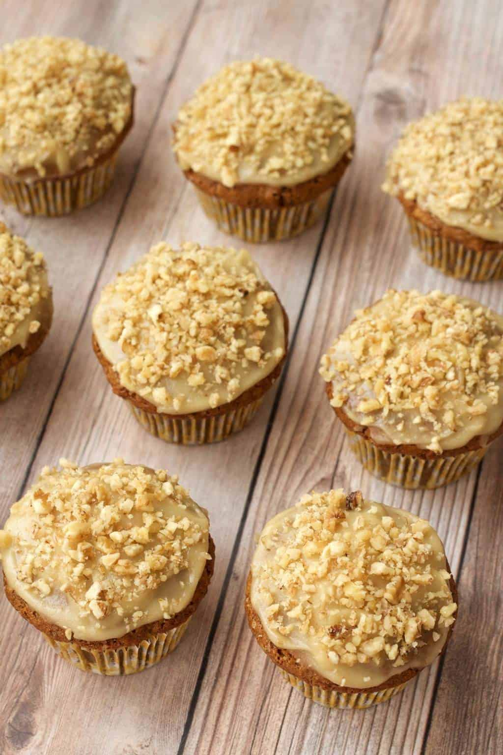 Gluten-Free Carrot Cake Cupcakes with Cashew Cream Frosting - Loving ...