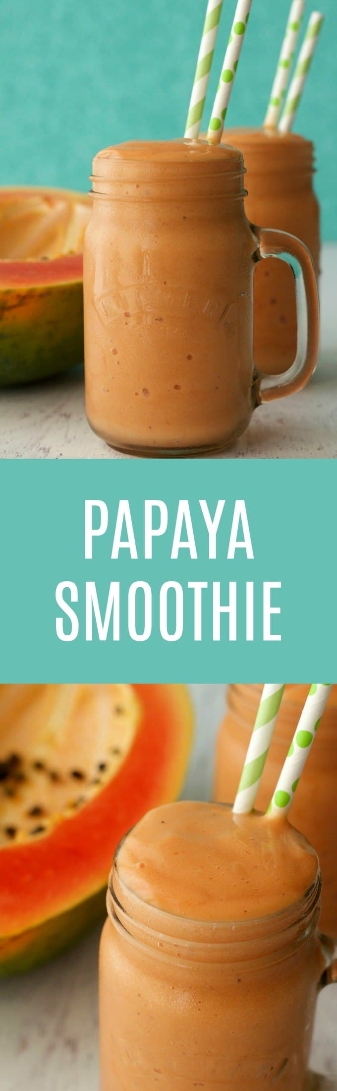 Double-thick and creamy papaya smoothie. This 2-ingredient smoothie tastes like a decadent double-thick milkshake yet it's only the healthiest ingredients. Vegan and Gluten-Free. | lovingitvegan.com
