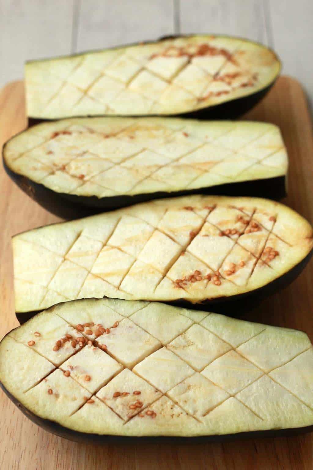 Rosemary and Olive Oil Roasted Eggplant #vegan #lovingitvegan #appetizer #sides #eggplant #glutenfree