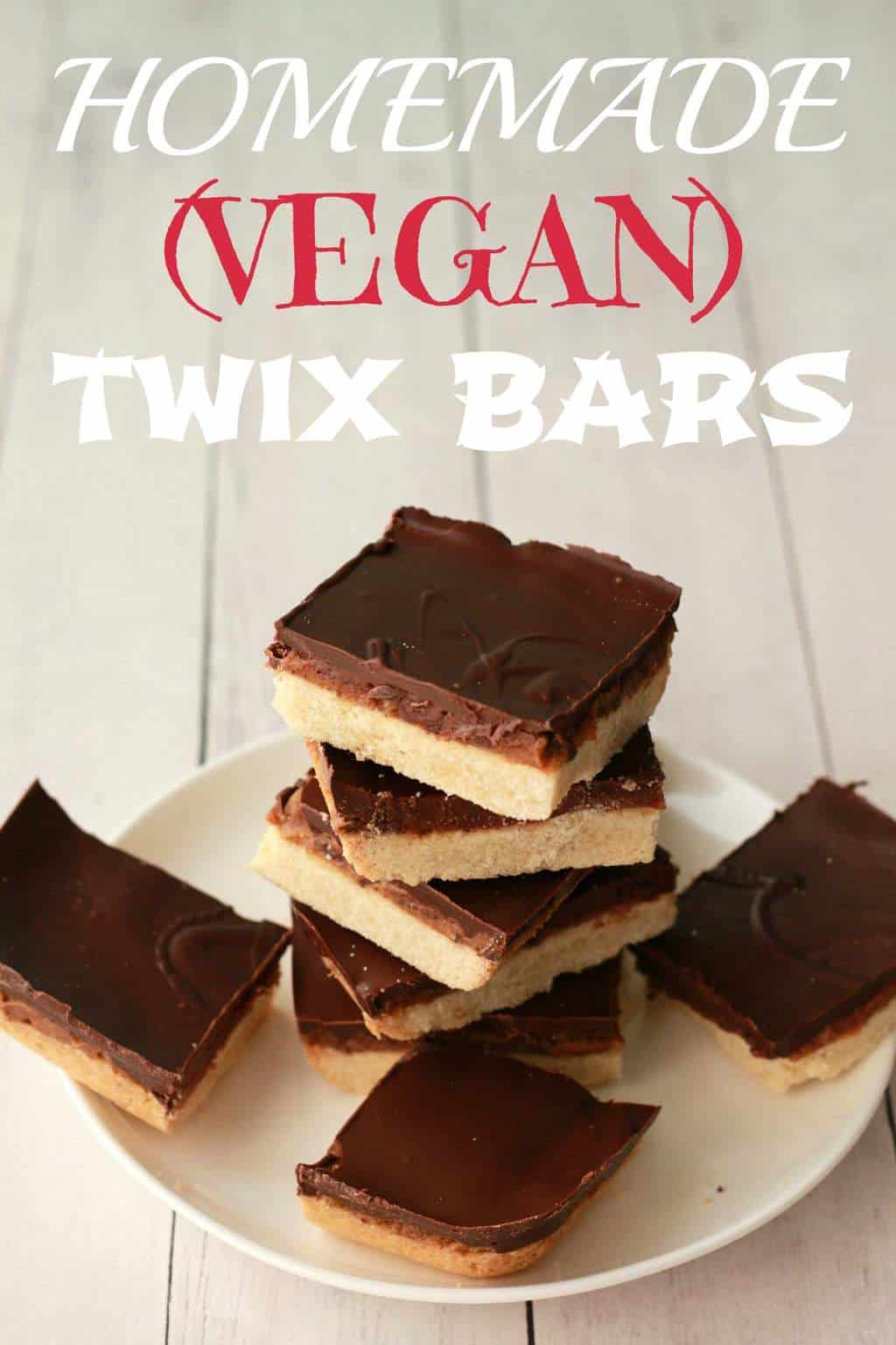 Homemade Twix Bars - Loving It Vegan
