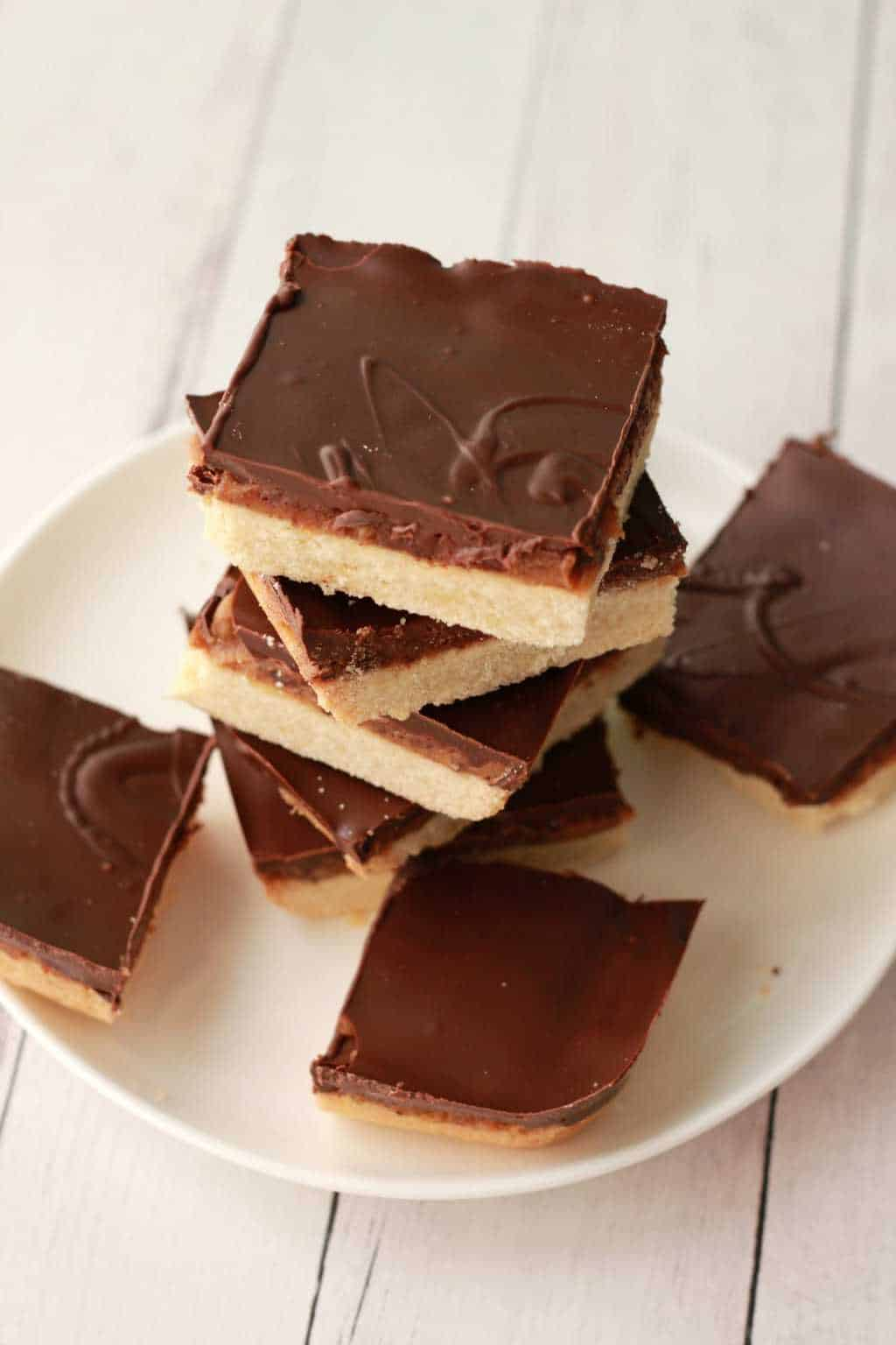 ... Vegan Homemade Twix Bars - a crunchy shortbread base, date caramel center and dark chocolate