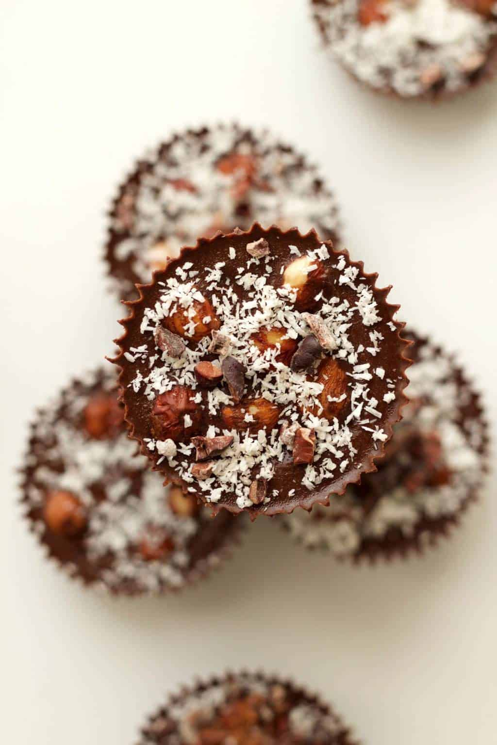 Raw Chocolate Hazelnut Cups #vegan #lovingitvegan #raw #rawvegan #chocolate #dessert #glutenfree #dairyfree