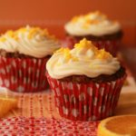 Vegan Carrot Cake Cupcakes (Orange and Walnut)