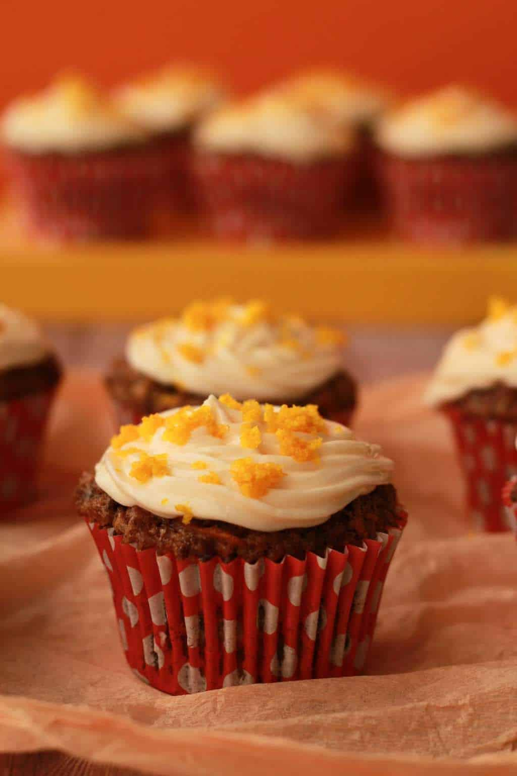 Carrot Cake Walnut Muffins Vegan