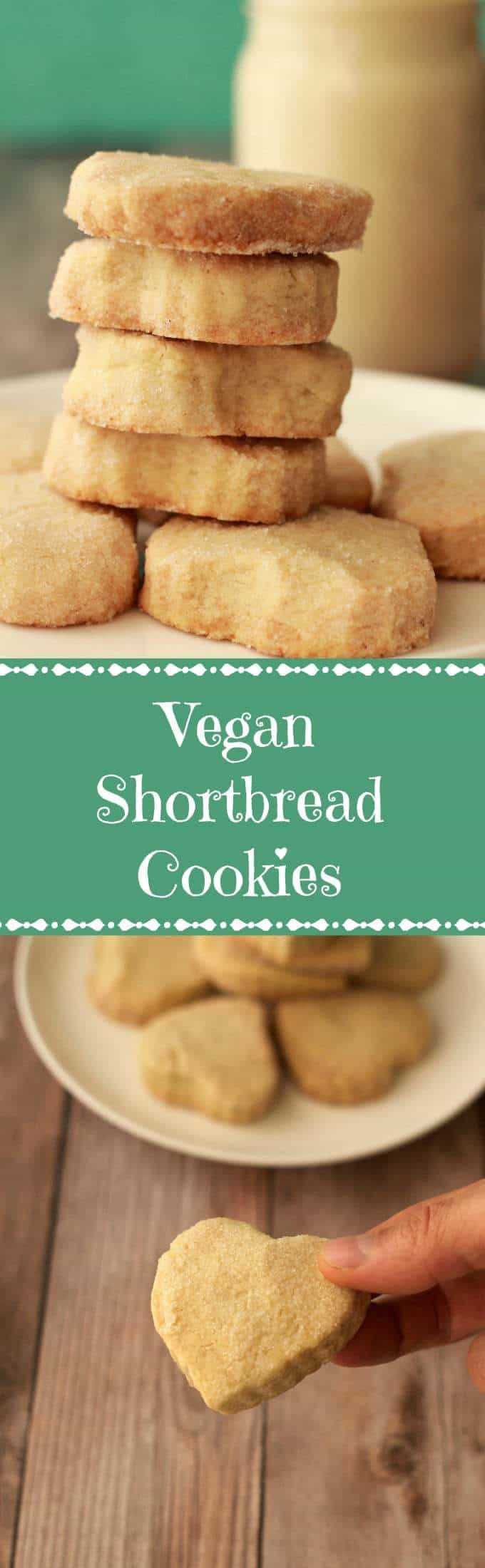 Perfectly crunchy vegan shortbread cookies. This small batch recipe contains just 4-ingredients and makes 8-9 shortbread cookies. Easy and insanely good! | lovingitvegan.com