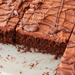 Chocolate Sheet Cake with Chocolate Fudge Frosting