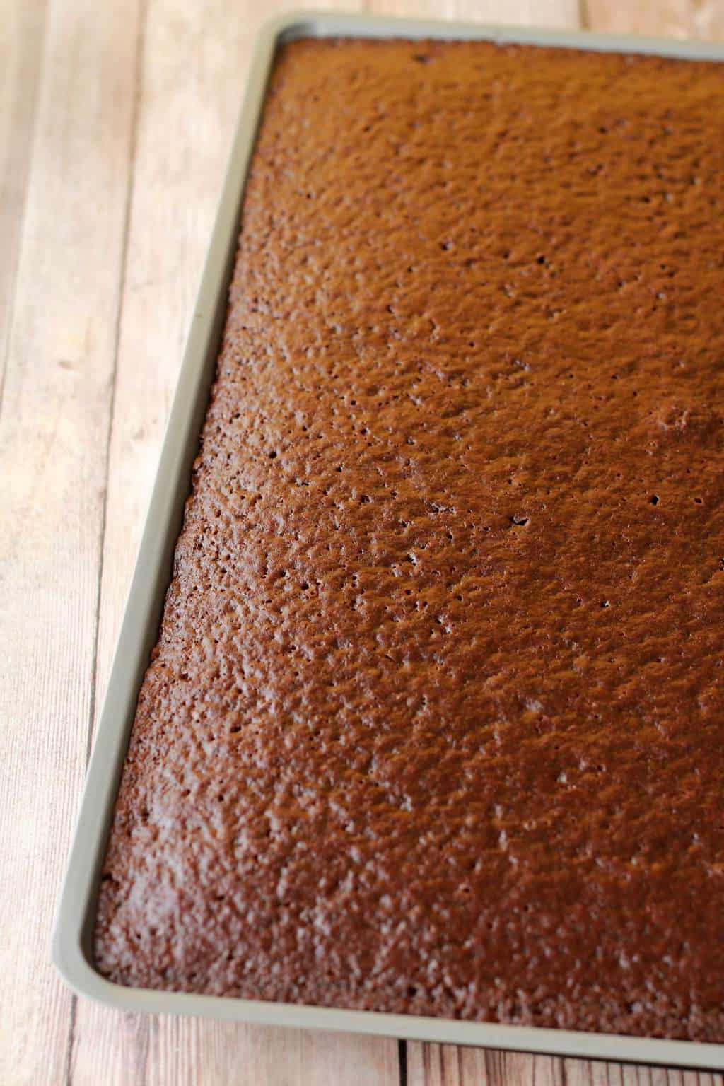Making a vegan chocolate sheet cake #vegan #lovingitvegan #dessert #cake