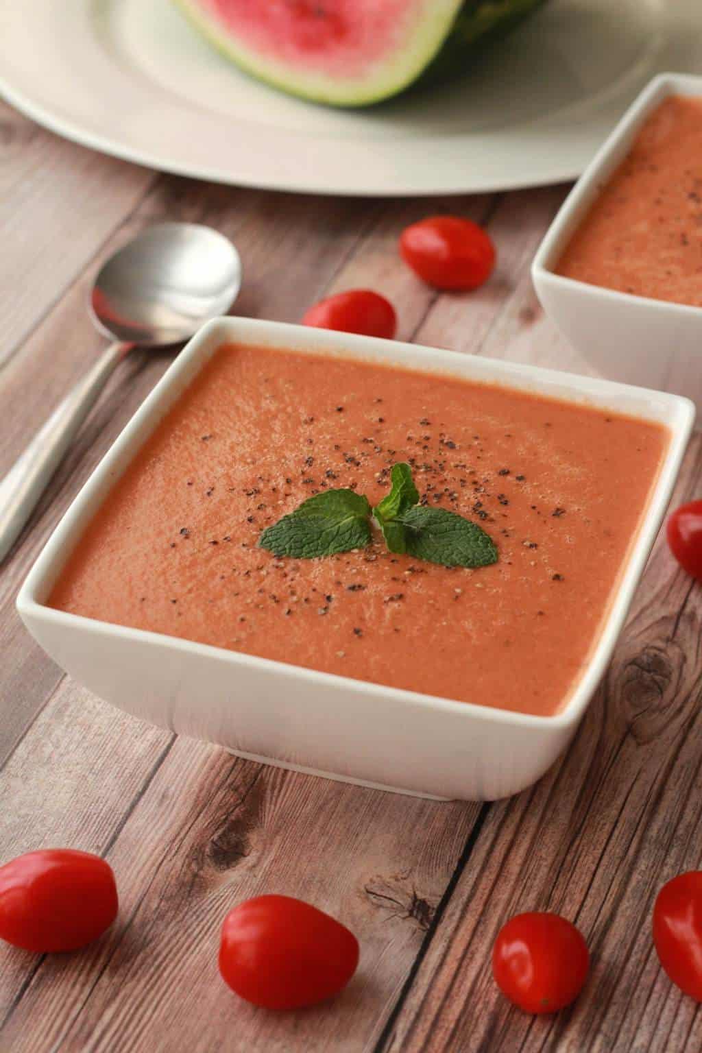 Raw Gazpacho Soup Watermelon Gazpacho - ...