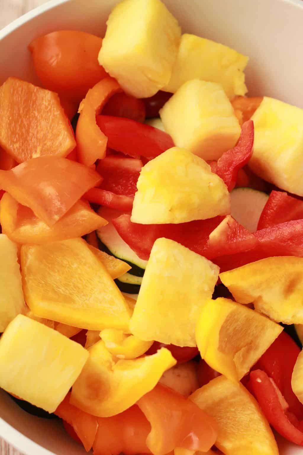 Making Vegetable Skewers #vegan #lovingitvegan