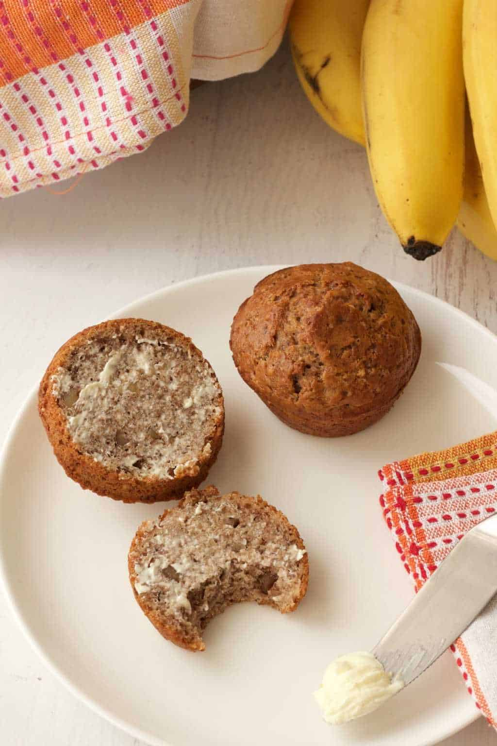 Easy Vegan Banana Bread Muffins - Loving It Vegan