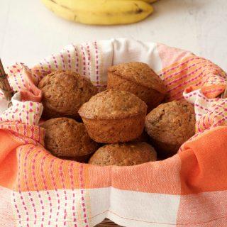 Easy Vegan Banana Bread Muffins