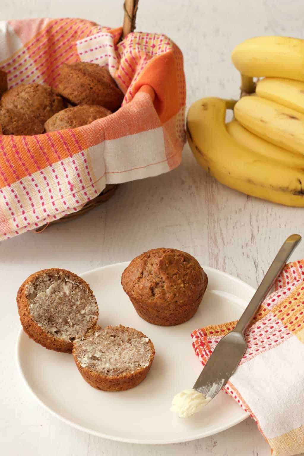 Vegan Banana Bread Muffins Loving It Vegan