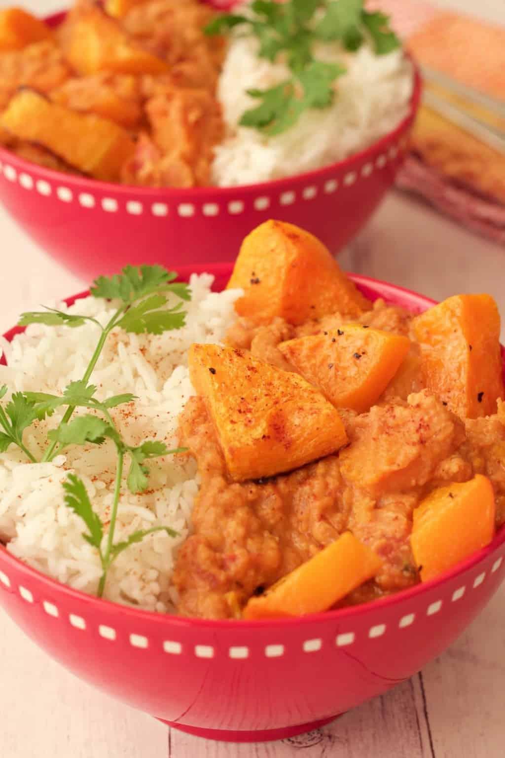 Butternut Squash Curry Bowls