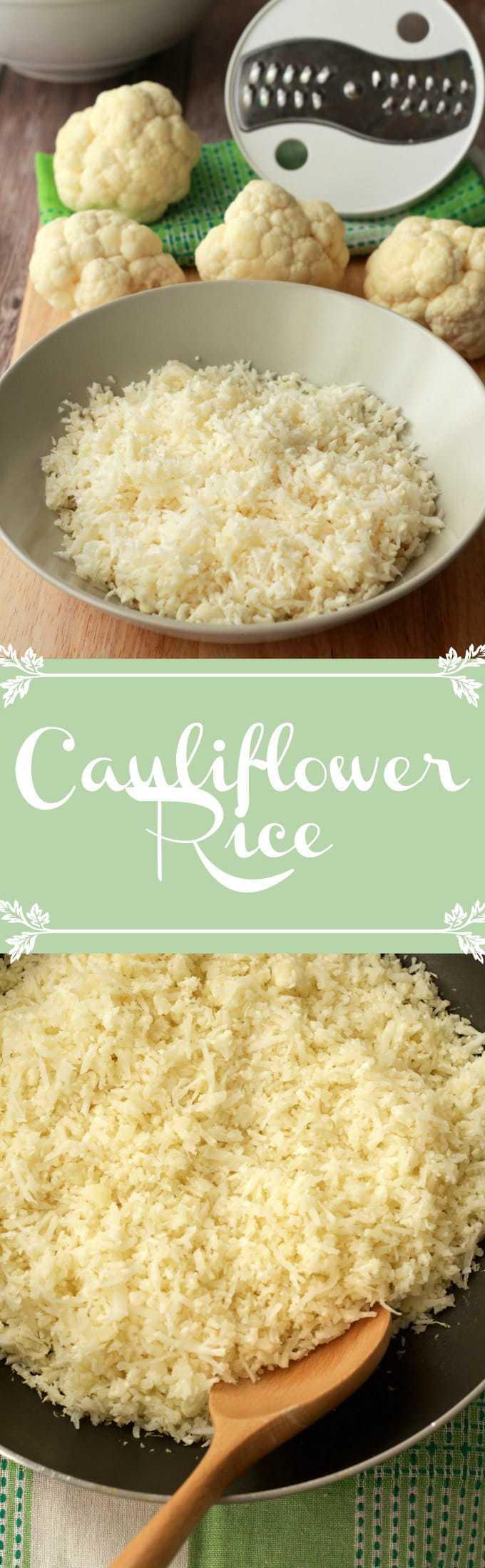 How to make cauliflower rice #vegan #lovingitvegan #glutenfree #howto