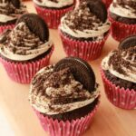 Oreo Cupcakes with Vanilla Frosting and Oreo Sprinkles