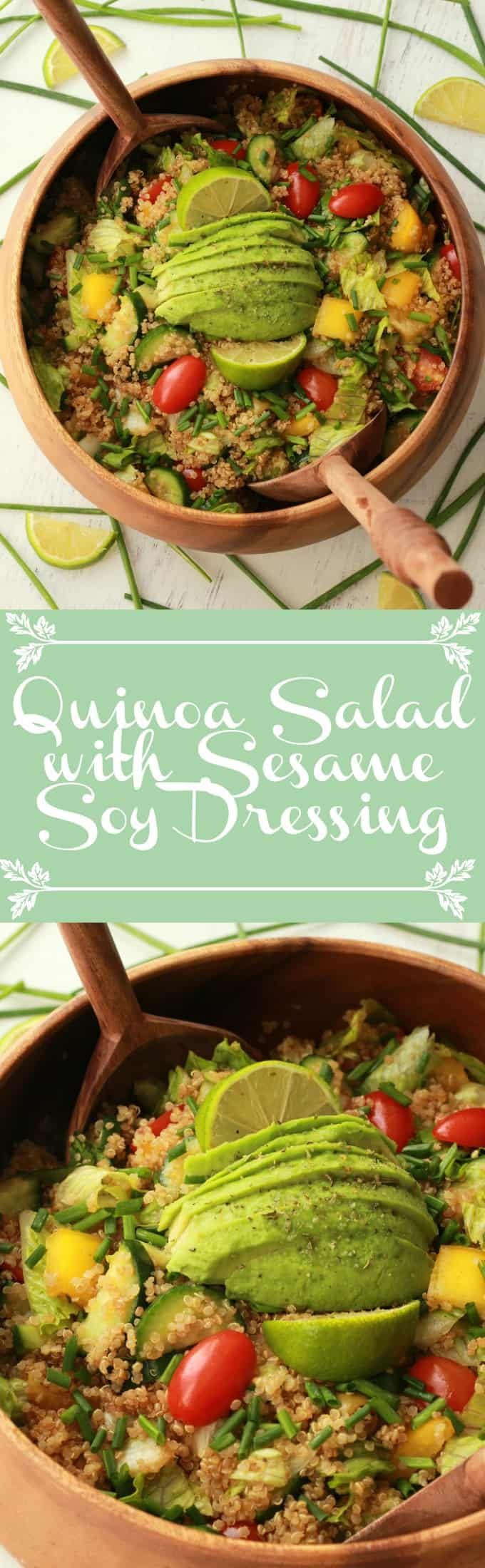 Fabulously healthy Quinoa Salad with Sesame Soy Dressing. Vegan and Gluten-free! Vegan | Gluten-Free | Vegan Food | Vegan Recipes | Vegan Salad | lovingitvegan.com
